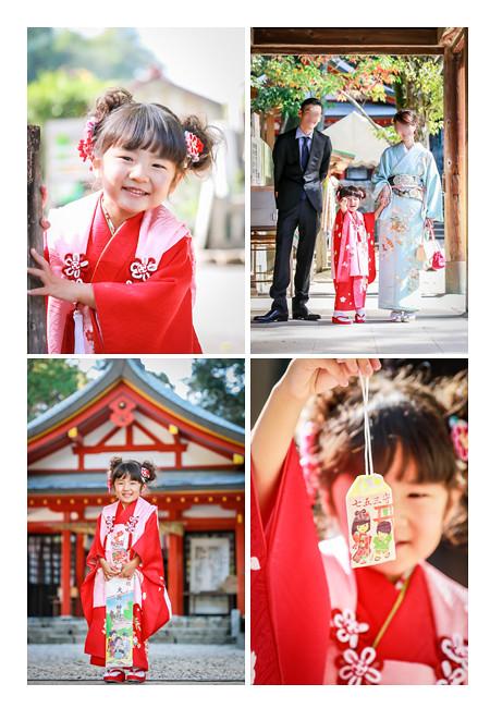 七五三 大縣神社(愛知県犬山市) 3歳の女の子