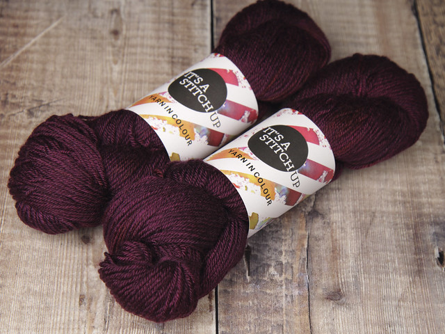 End of batch: Dynamite DK pure British Bluefaced Leicester wool hand dyed yarn 100g – 'Dancing in the Dark'