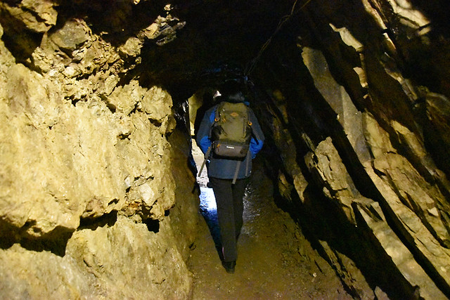 Into the mine, Wanlockhead, Scotland