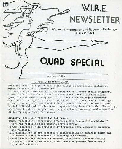 W.I.R.E. Newsletter, August 1984 | by The Urbana Free Library Digital Collections