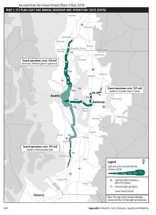 Light Rail Seattle Map Stops.Will Seattle Light Rail Extended To Snohomish County Create