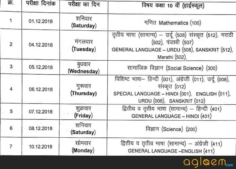 MPSOS Ruk Jana Nahi December Time Table 2018 Has Been Released