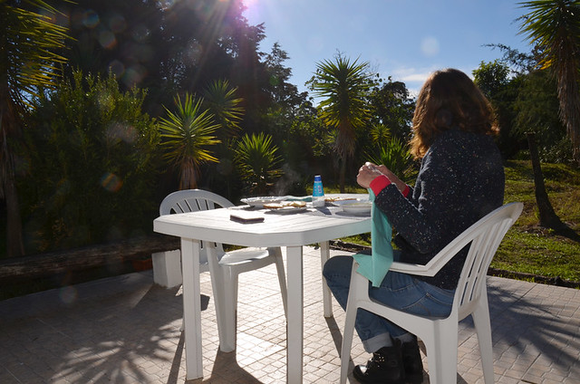 December lunch outside, Setubal, Portugal