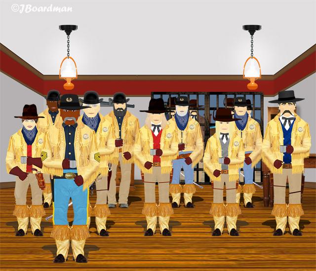 The entire Posse met inside the City Marshal's office ©J. Boardman