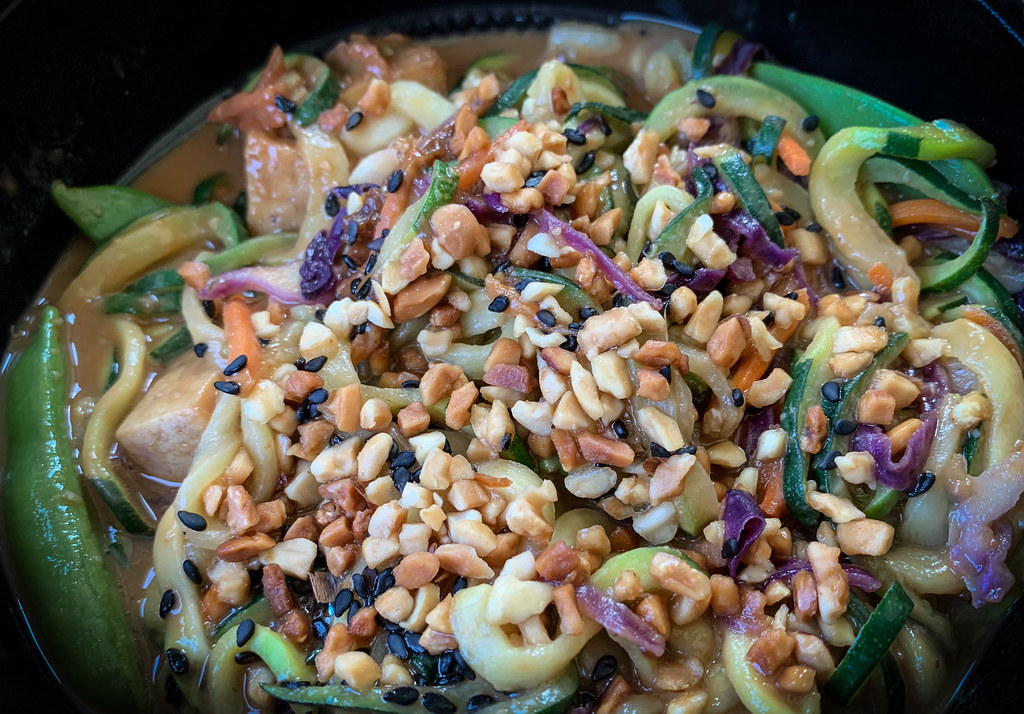 Zucchini Spicy Peanut Saute At Noodles And Company Flickr
