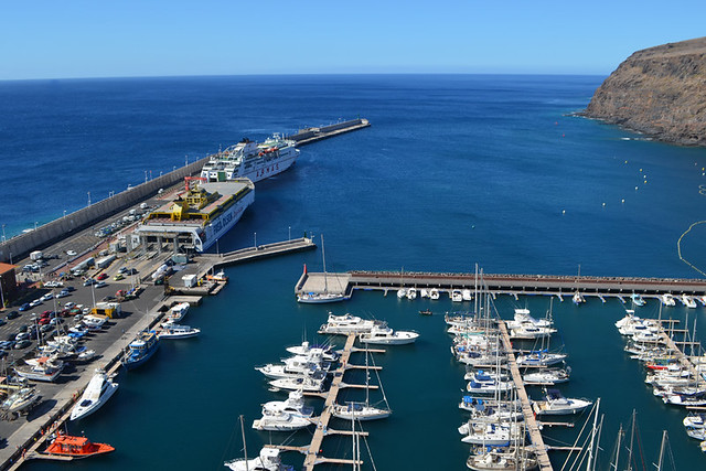 Ferries in San Sebastian port, La Gomera