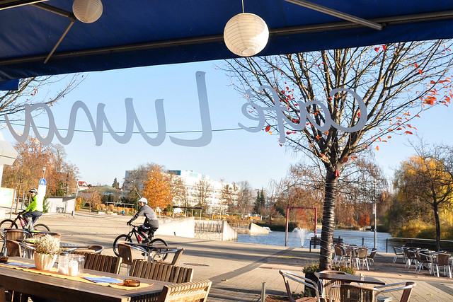 Bad Rappenau, November 2018 ... Café Luna Bar am Kurparksee ... Foto: Brigitte Stolle