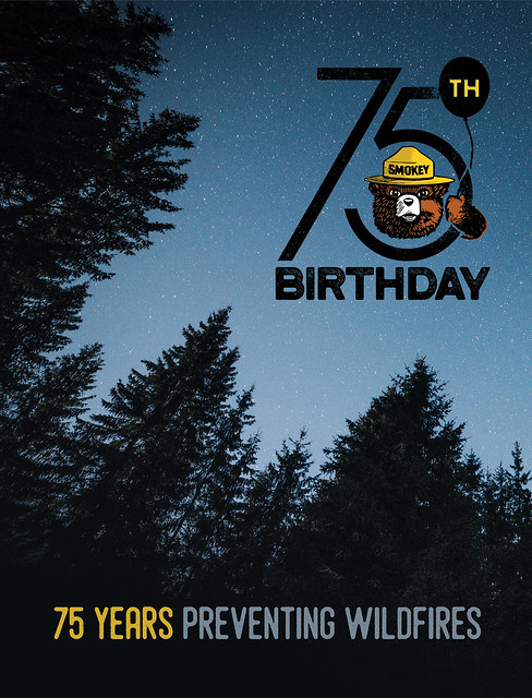 Smokey Bear 75th Birthday poster