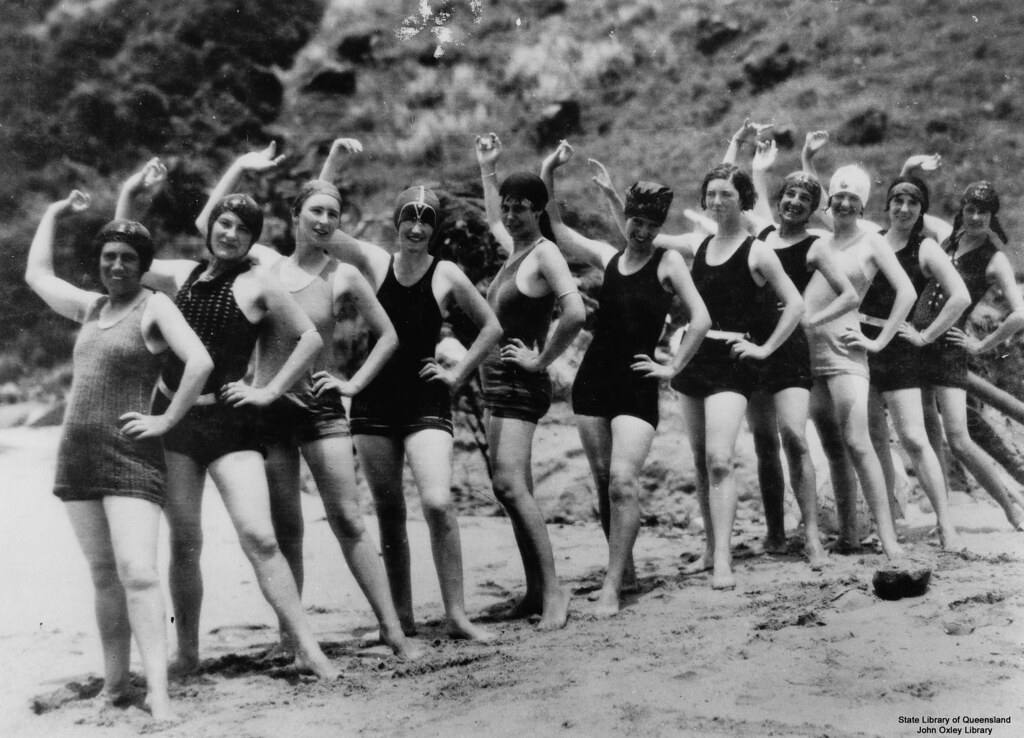 Women In Their Swimming Costumes On The Beach At Lindeman Flickr