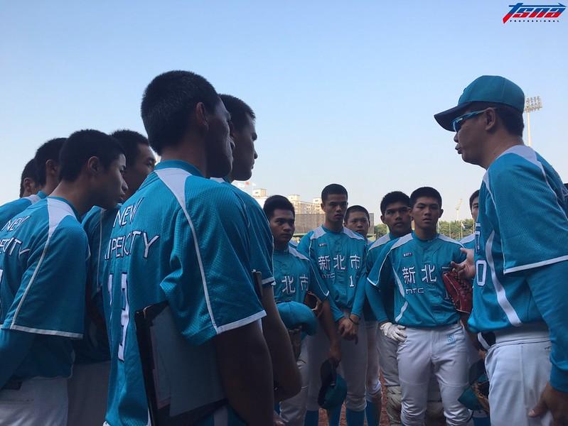新北藍(穀保家商)以1比0擊敗北市,奪下富邦U18冠軍。(行大昀/攝)