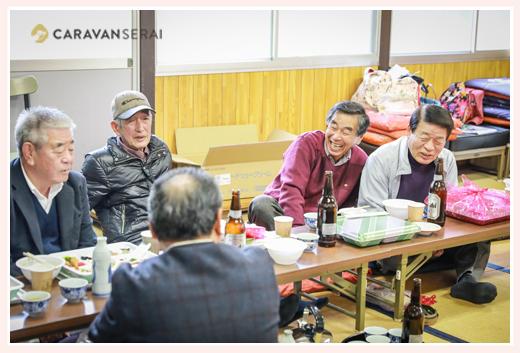 秋葉神社のお祭り 愛知県瀬戸市 役員さん達の宴会