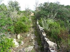 Muzzu : la conduite d'accès au moulin