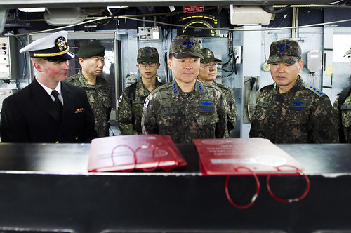 Senior Republic of Korea (ROK) officials visited the Arleigh Burke-class guided-missile destroyer USS Barry (DDG 52) Jan. 15 as part of a United Nations Command (Rear) tour while at Commander, Fleet Activities Yokosuka naval base.