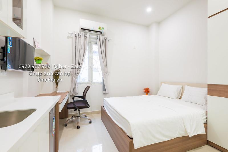 phòng ngủ đơn chụp ảnh căn hộ