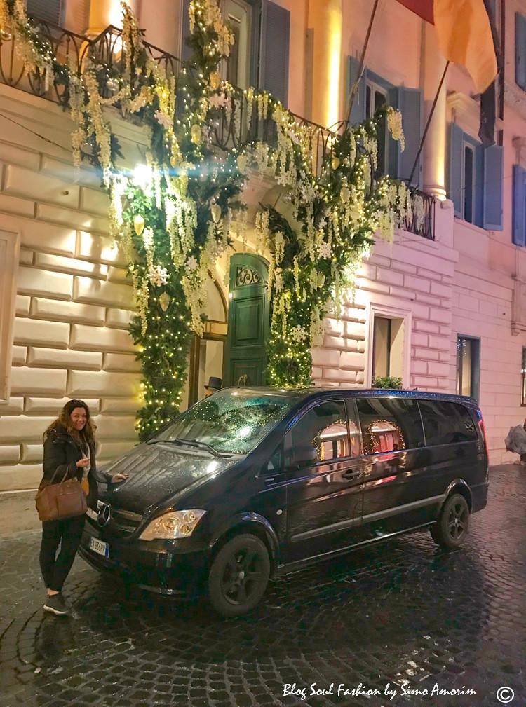 Tanto na chegada como na volta de Roma fomos recepcionados pelo serviço de transfer da Tranferitalia. Que inclusive fazem passeios em Roma e em diversas cidades italianas.