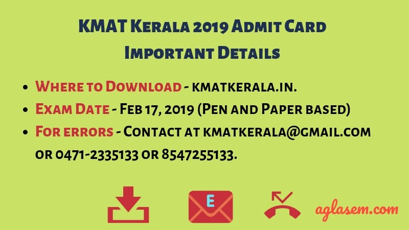 What To Do If There Is Any Error In The KMAT Kerala 2019 Admit Card?