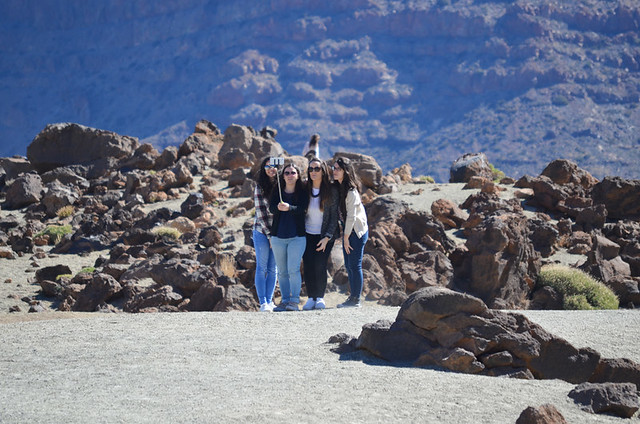 Selfies in Teide National Park, Tenerife