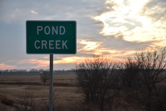 A Pond Creek sign