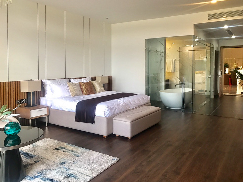 phòng ngủ master 1pn nhà mẫu Malibu Hội An