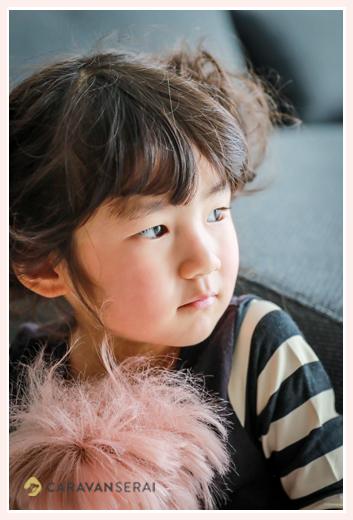 家族写真の出張撮影 愛知県瀬戸市 3歳の女の子の横顔