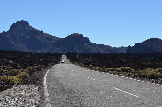 Road to Mount Teide from south west, Tenerife