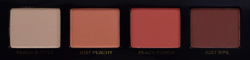 Too Faced Just Peachy Mattes Peach Butter, Just Peachy, Peach Punch, Just Ripe