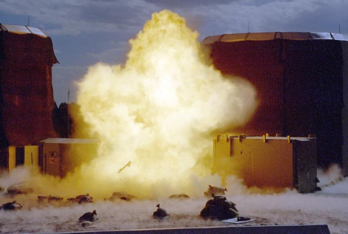 This open-air high-explosives detonation was conducted in 2003.