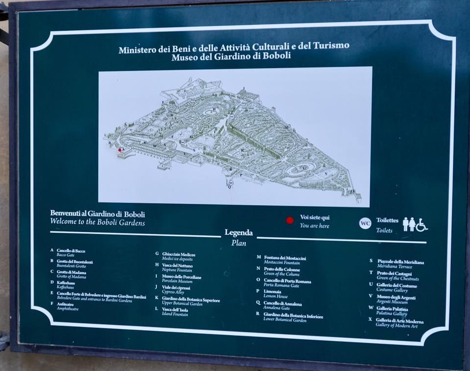 Boboli Gardens Map