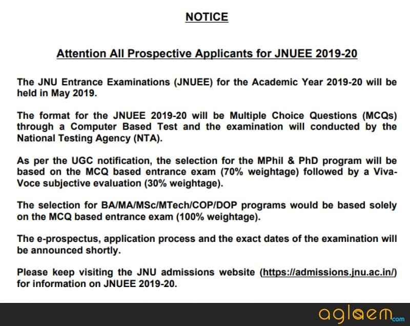 NTA to Conduct JNUEE 2019 in May 2019