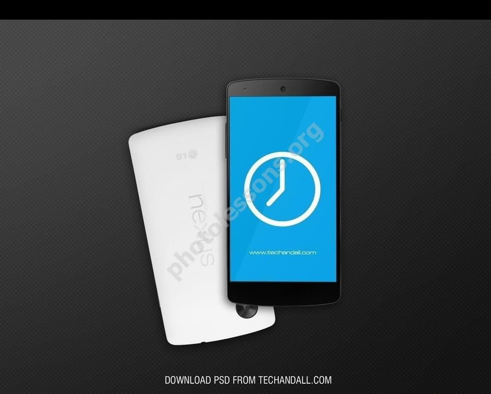 Google Nexus 5 – download for Photoshop source .PSD