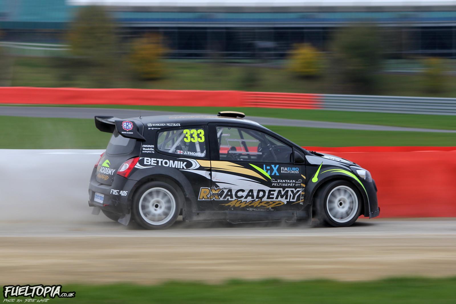 Jack Thorne Renault Twingo Silverstone BRX British Rallycross Championship 2018 Steve White Fueltopia