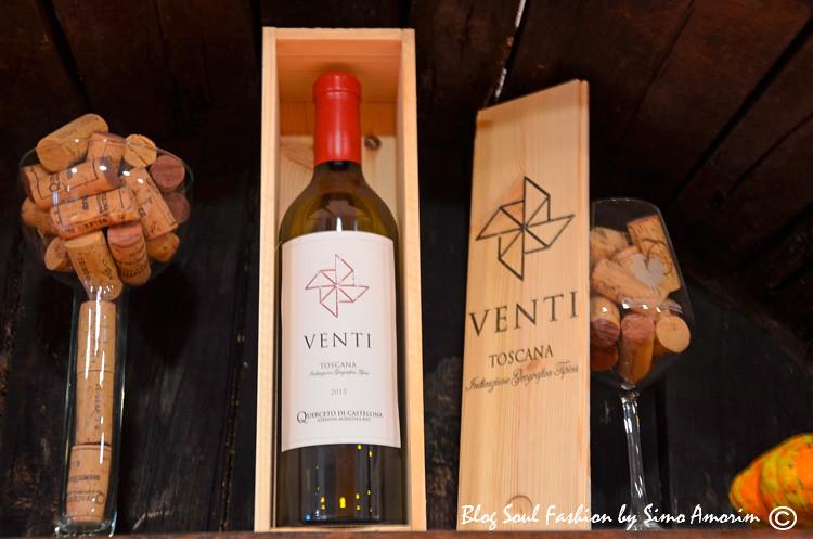 E para festejar os 20 anos da Quercetto di Castellina no verão desse ano, foi lançado o mais novo vinho deles que se chama venti com duplo sentido: venti do número 20 e de ventos em italiano.