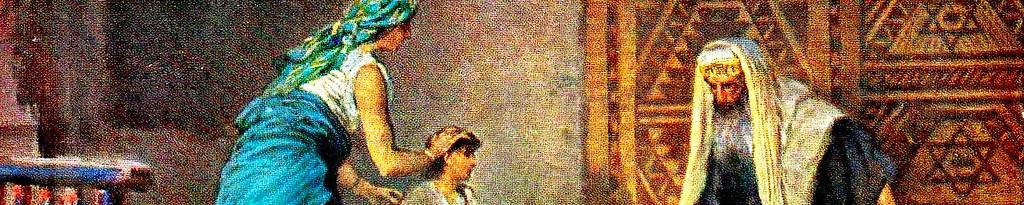 Анна приводит Самуила к Илию.