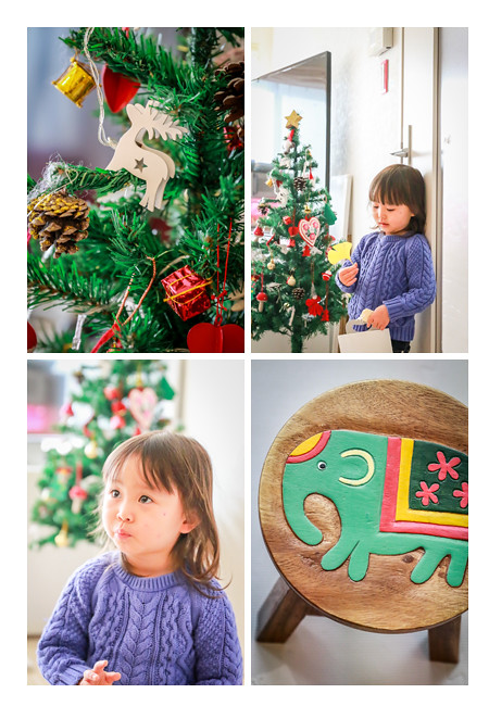 ご自宅で家族写真の出張撮影 クリスマスツリー