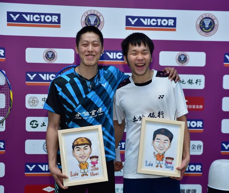 李哲輝(左)與李洋。(羽協提供)