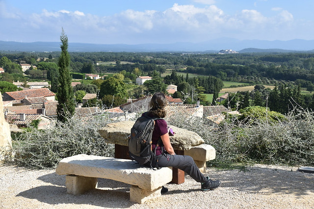 Grignan to Bois des Dames,view of Grignan from Chamaret, Provence
