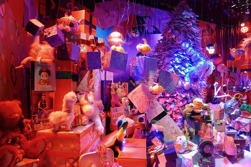 Les vitrines animées, Noël 2018 aux Galeries Lafayette Haussmann, Paris