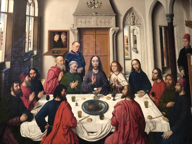 La última cena de Dirk Bouts en la iglesia de San Pedro (Lovaina, Flandes)