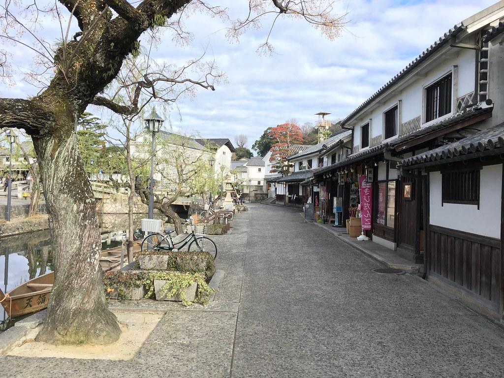 Historische gracht in Kurashiki