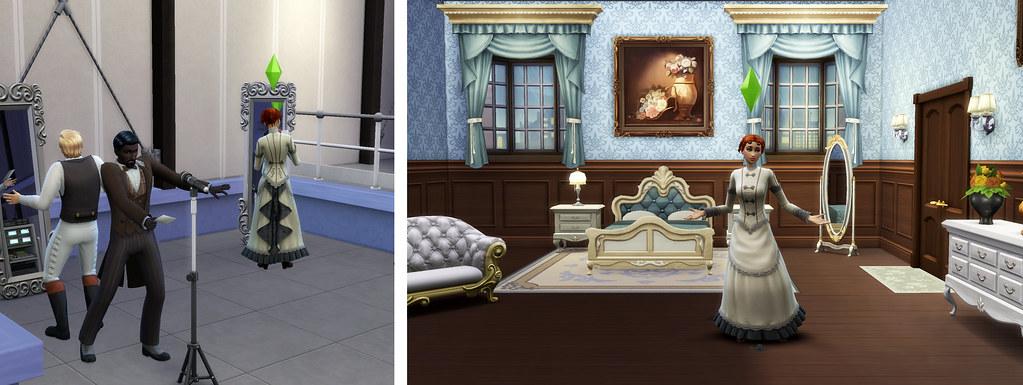 Profesión Actuación en Los Sims 4 - Sims en plena actuación