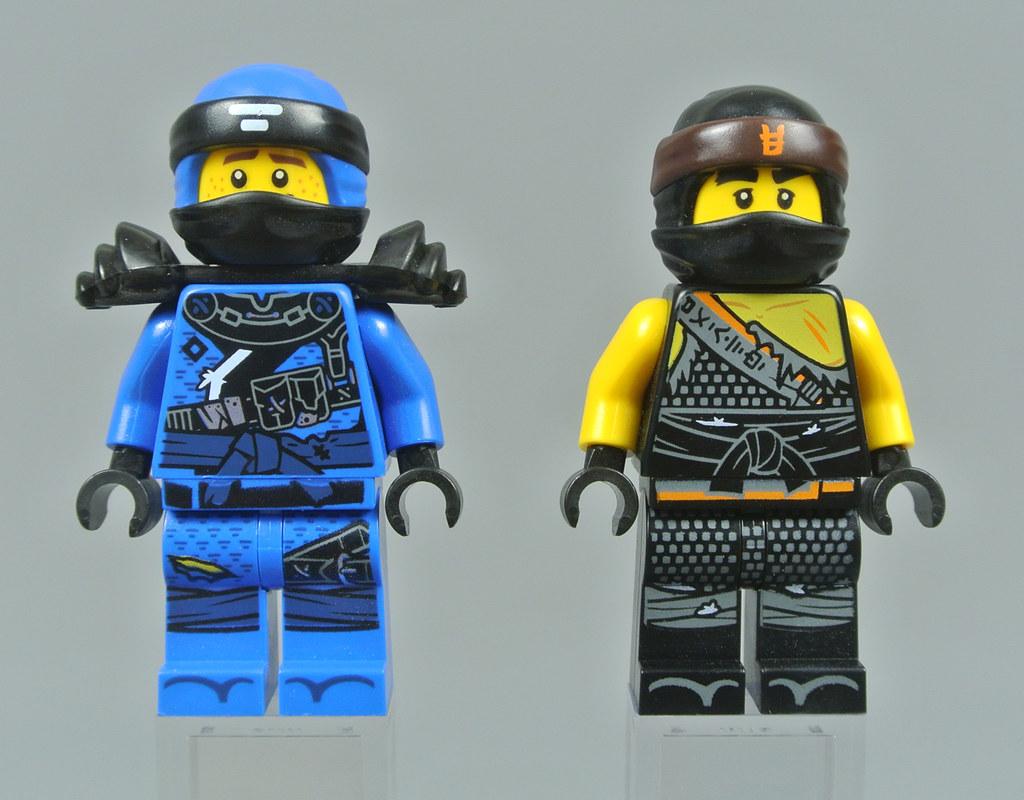 LEGO NEW BLUE NINJAGO JAY NINJA MINIFIGURE TORSO WITH ONE LIGHT GREY SLEEVE