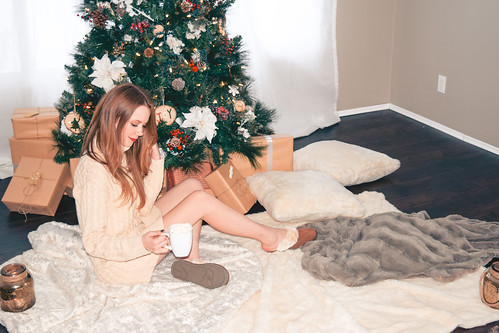 Hot Chocolate, Fuzzy Slippers and Over the Knee Socks | by ekarcha88