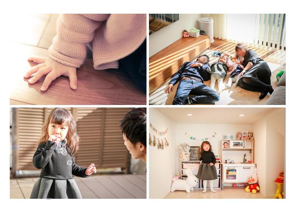 新築のご自宅で家族写真の出張撮影 愛知県豊田市