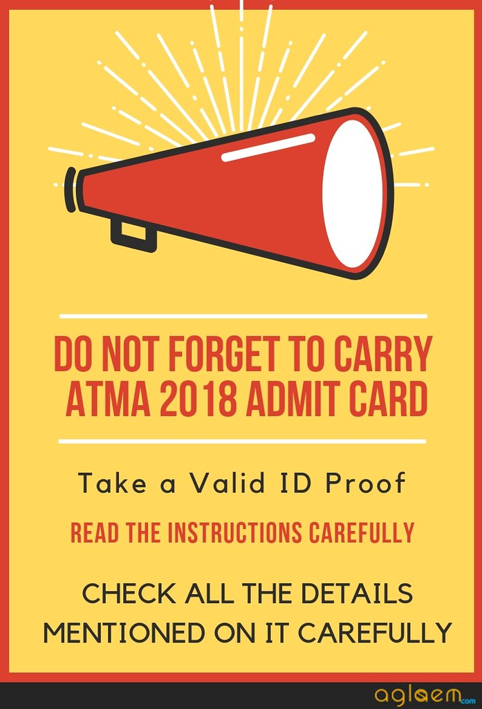 ATMA Dec 2018 Admit Card Released; Check How to Download Here!