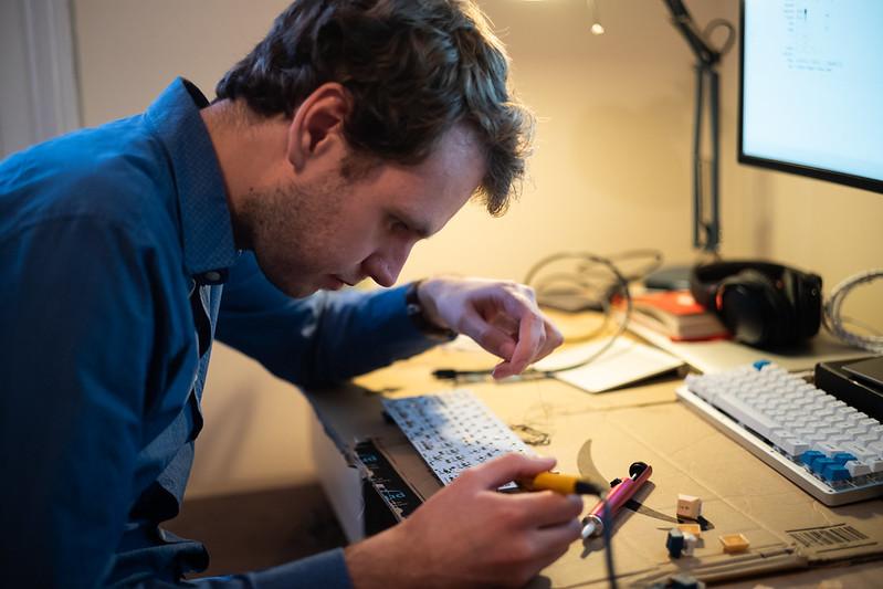 Me soldering