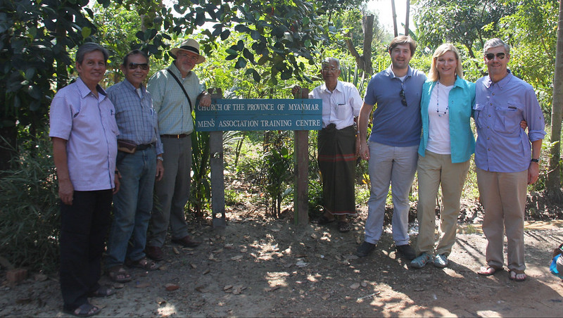 Rob Radtke at a men's association training centre, in the Church of the Province of Myanmar