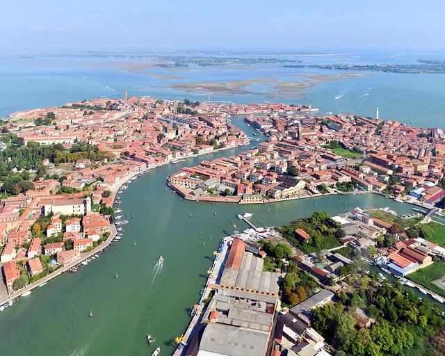 Isla de Murano desde el aire