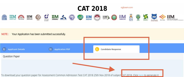 CAT 2018 Response Sheet Released by IIM Calcutta