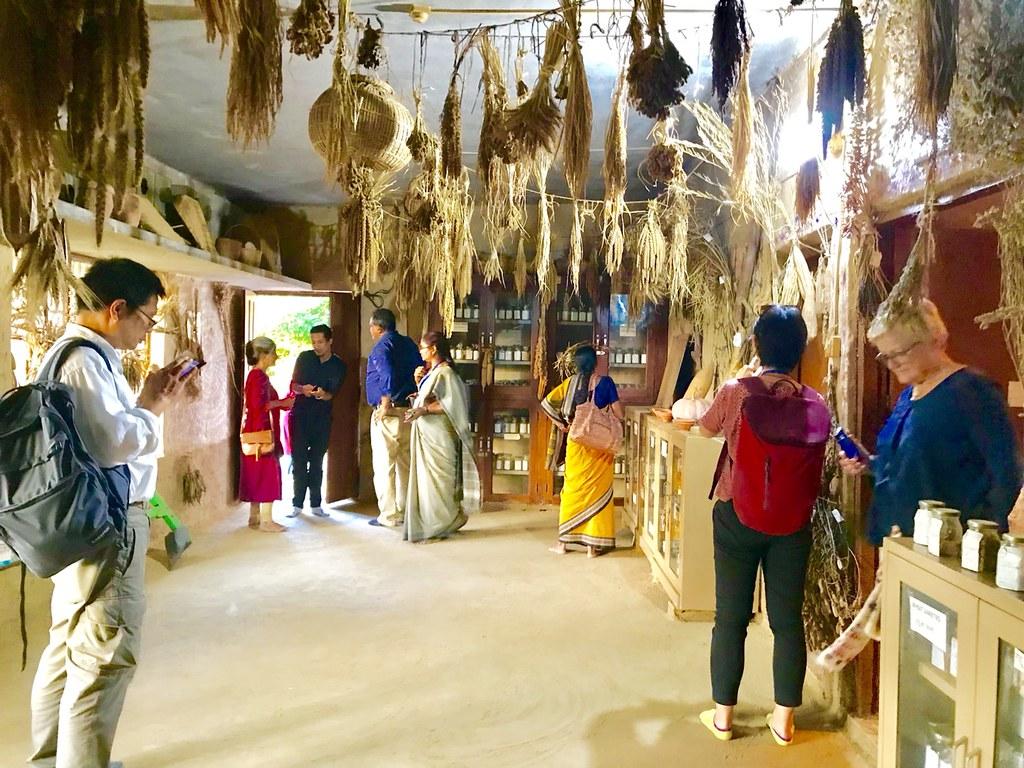 席娃博士在那拿當亞農場內的種子倉庫,這裡保存了735種稻米種子,和許多其他穀類、蔬菜等的種子。(釋果祥提供)