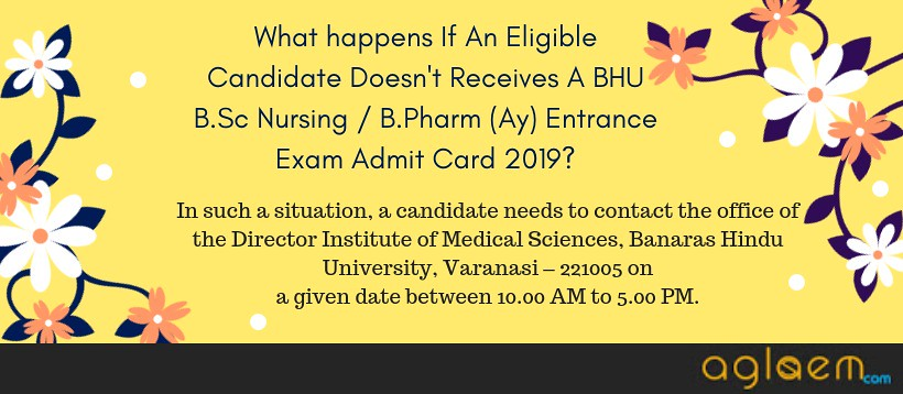 BHU B Sc Nursing / B Pharm (Ay) Entrance Exam Admit Card